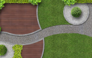 seamless example of a beutiful artificial turf project yard