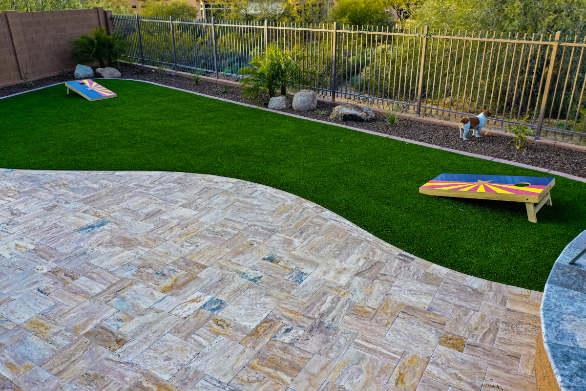 a small backyard artificial turf project