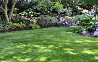 a picture of artificial turf in the landscape