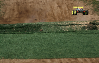 r/c racetrack using used artificial turf